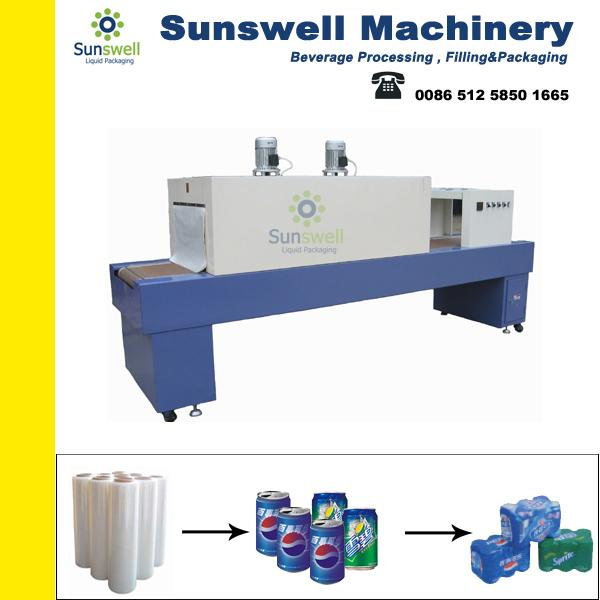 Semi-auto Shrink Packaging Equipment , Bottle Film Shrink Wrapping Machine