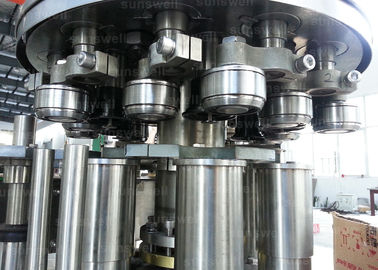 Cina can filling line and seaming carbonated beverage beer, CSD 40 heads Aluminum Can Filling Machine pabrik