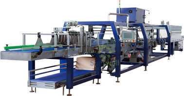 Cina Automatic PE Film Shrink Packaging Equipment Linear Type For Soft Drink / Liquor pabrik