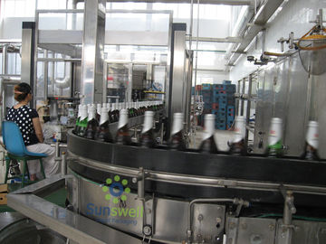 Cina Fully Automatic Beer Filling Machine Glass For Glass Bottle With 1500BPH - 16000BPH Capacity pabrik