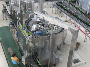 Cina Rotary Automatic Beer Filling Machine , Multi-Head Volumetric Filling Machine pabrik