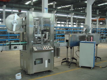 Cina Automatic Sleeve And Shrink Labeling Machine (Shrink Sleeve for plastic square Bottles) pabrik