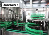 Sunswell Customized Bottle Shape Liquid Filling Machine Dengan Aluminium Foil Sealing pemasok