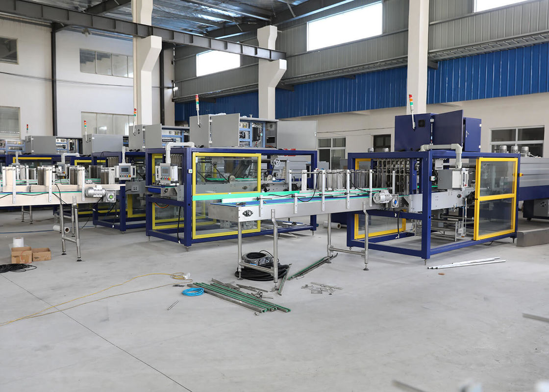 PE Film 8-12 Packs / Minute Shrink Wrap Machine For Packaging Bottles