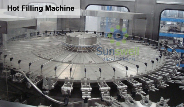 4 In 1 Monoblock Pulp Juice Hot Filling Machine for PET Bottles