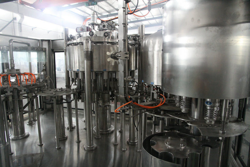4 in 1 non-carbonated juice Pulp Piston Filling monoblock Machine 304 stainless steel pemasok