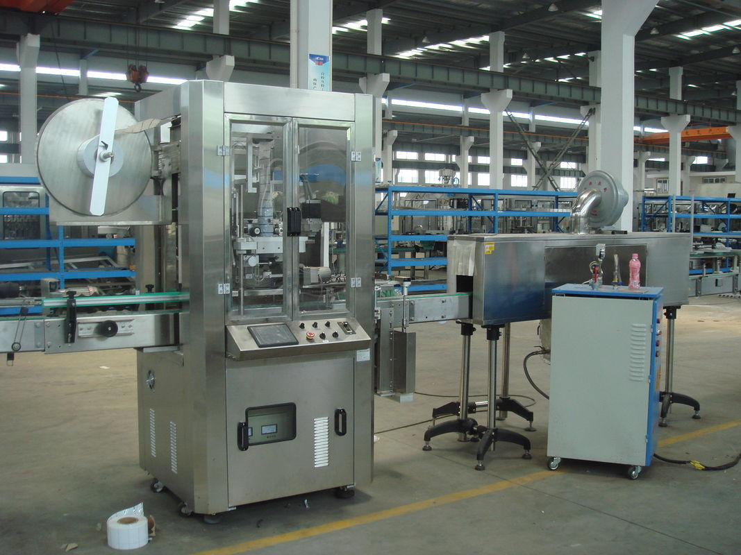 Automatic Sleeve And Shrink Labeling Machine (Shrink Sleeve for plastic square Bottles) pemasok