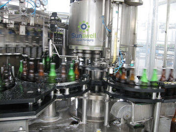 Multi-Head Volumetric Beer Bottling Machine Botol Kaca Dengan Pengontrol yang Dapat Diprogram