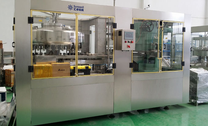 Soda Water, Juice Aluminum Can automatic rotary Filling machine and can seaming machine