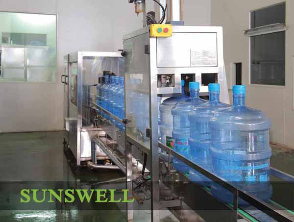 Inline Automatic 5 Gallon Water Filling Machine 380V 50HZ FOR Bottle